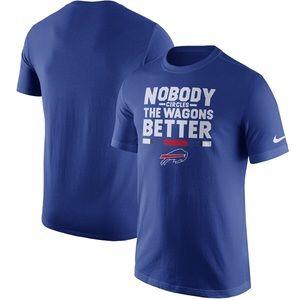 NFL Bills Nobody Circles The Wagons Better TShirt